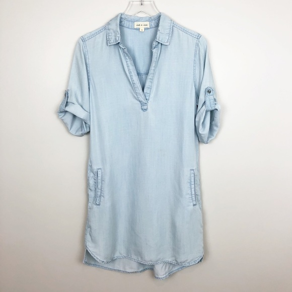 Anthropologie Dresses & Skirts - Anthropologie | Cloth & Stone Chambray Dress XS